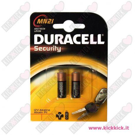 Duracell MN21 - 23A Pila MicroStilo 12V Alcalina per Telecomandi - Blister 2 Batterie