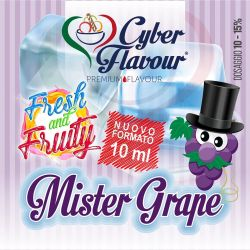 Mister Grape Fresh and Fruity di Cyber Flavour Aroma Concentrato 10 ml