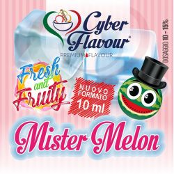 Mister Melon Fresh and Fruity di Cyber Flavour Aroma Concentrato 10 ml