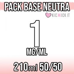 Pack Base Neutra 210ml 50VG/50PG 1mg Nicotina