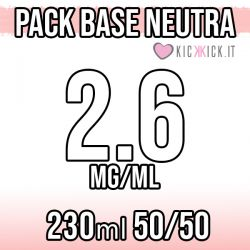 Pack Base Neutra 230ml 50VG/50PG 2.6mg Nicotina