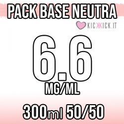 Pack Base Neutra 300ml 50VG/50PG 6.6mg Nicotina