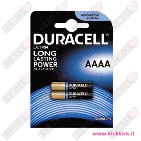 Duracell MN2500 - AAAA Pila MicroStilo 1,5V Alcalina - Blister 2 Batterie