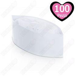100 Bustine Cappellini Cuoco Monouso per Ristorazione