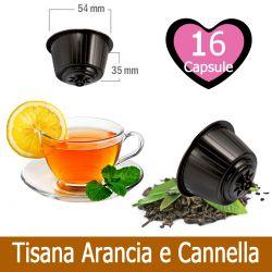 16 Tisana Arancia e Cannella Compatibili Nescafè Dolce Gusto