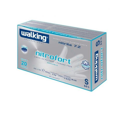 Guanti Riusabile in Nitrile Professionale - Walking Nitrofort 7.2
