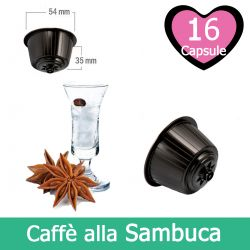 16 Caffè Sambuca Nescafè Dolce Gusto Capsule Compatibili