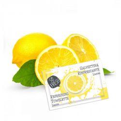 100 pz Salviettine Rinfrescanti Monouso Detergenti Usa e Getta al Limone