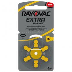 60 Batterie Rayovac 10 Extra Advanced Pr70 per Protesi Acustiche