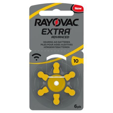 30 Batterie Rayovac Extra Advanced Misura 10 / PR70 / P10 - 5 Blister da 6 Pile per Protesi Acustiche