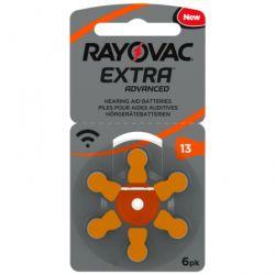 30 Batterie Rayovac Extra Advanced Misura 13 / PR48 / P13 - 5 Blister da 6 Pile per Protesi Acustiche