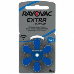 60 Batterie Rayovac 675 Extra Advanced Pr44 per Protesi Acustiche
