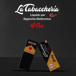 Black Cavendish La Tabaccheria 4 Pod Liquido Pronto 10 ml Aroma Tabaccoso