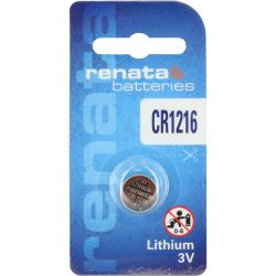 CR1216 Batterie Renata a Bottone - Pila al Litio 3V