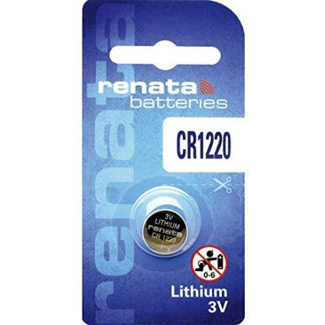 Pile CR 1220 Renata Batteria al Litio 3V