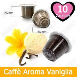 10 Capsule Caffè Aroma Vaniglia Tre Venezie - Compatibili Nespresso