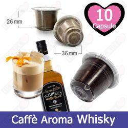 10 Capsule Caffè Aroma Crema al Whisky Tre Venezie - Compatibili Nespresso
