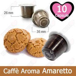 10 Capsule Caffè Aroma Amaretto Tre Venezie - Compatibili Nespresso