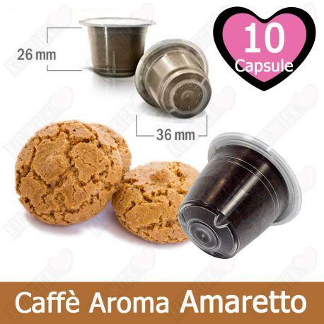 10 Capsule Caffè Compatibili Nespresso Aromatizzato all'Amaretto - Tre Venezie Cialde