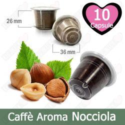 10 Capsule Caffè Aroma Nocciola Tre Venezie - Compatibili Nespresso