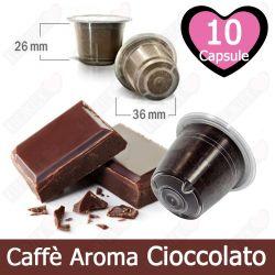 10 Capsule Caffè Aroma Cioccolato Tre Venezie - Compatibili Nespresso