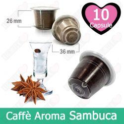 10 Capsule Caffè Aroma Sambuca  Tre Venezie - Capsule Compatibili