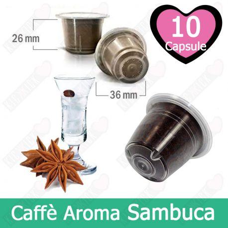 10 Capsule Caffè Compatibili Nespresso Aromatizzato alla Sambuca - Tre Venezie Cialde
