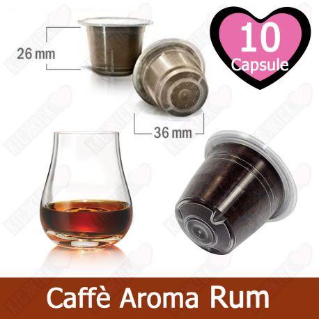 10 Capsule Caffè Compatibili Nespresso Aromatizzato al Rum - Tre Venezie Cialde