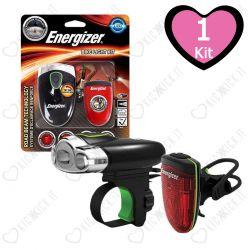 Torcia per Bicicletta Energizer Bike Light Kit - Torcia Frontale e Posteriore a LED