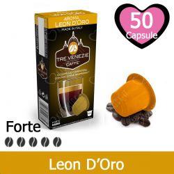50 Capsule Caffè Aroma Leon D'Oro Tre Venezie - Compatibili Nespresso