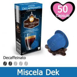 50 Capsule Caffè Decaffeinato Tre Venezie - Compatibili Nespresso