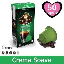 50 Capsule Caffè Crema Soave Tre Venezie - Compatibili Nespresso