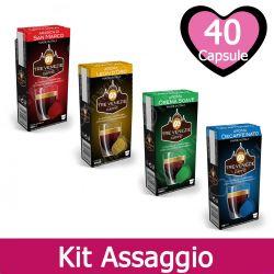 Kit Assaggio Compatibili Nespresso - Capsule Caffè Tre Venezie 40 pz