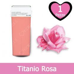 Cartuccia Cera per Rullo Roll-On per Depilazione al Titanio Rosa 100 ml