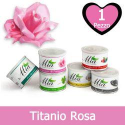 Cera Depilatoria Titanio Rosa Liposolubile in Barattolo 400 ml