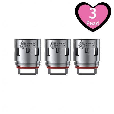 V12-T8 Resistenza Smok per Atomizzatore TFV12 Head Coil da 0,16 ohm - 3 Pezzi