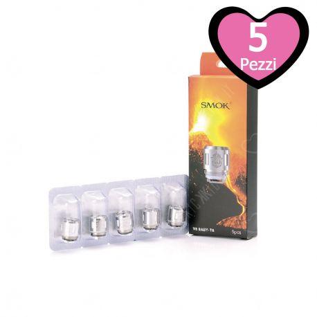 V8 Baby T8 Core Resistenza Smok Head Coil per Atomizzatore TFV8 Baby e TFV8 Big Baby - 5 Pezzi