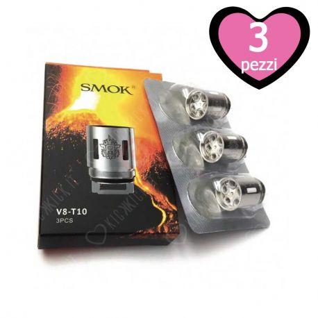 V8-T10 Resistenza Smok Head Coil per Atomizzatore TFV8 Cloud Beast - 3 Pezzi