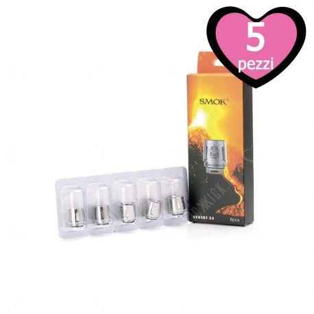 V8 Baby X4 Core Resistenza Smok Head Coil per Atomizzatore TFV8 Baby e TFV8 Big Baby - 5 Pezzi