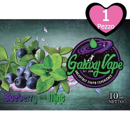 Blueberry and Mint Galaxy Vape 10 ml