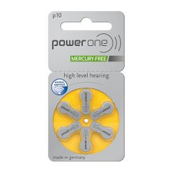 Power One Misura 10 / PR70 / P10 - Blister da 6 Batterie per Protesi Acustiche