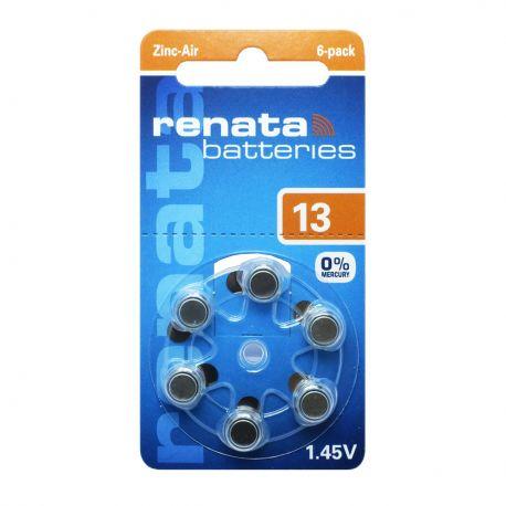 60 Batterie Renata 13 - Pr48 per Apparecchi Acustici