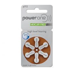 60 Batterie Power One 312 / PR41 per Protesi Acustiche