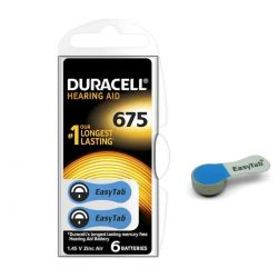 60 Batterie Duracell 675 EasyTab Pr44 per Apparecchi Acustici