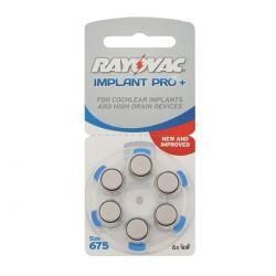 Batterie Rayovac 675 Implant Pro Cocleari per Protesi Acustiche