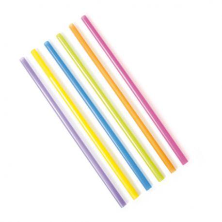 Cannucce Colorate da Cocktail cm 21 x 1000 pz