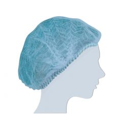 Cuffia Monouso in Tnt Plissè Blu Confezione da 100 pz.