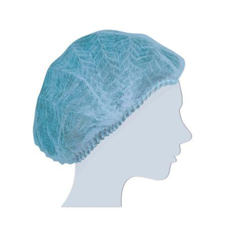 Cuffia Monouso in Tnt Plissè Blu Confezione da 100 pcs