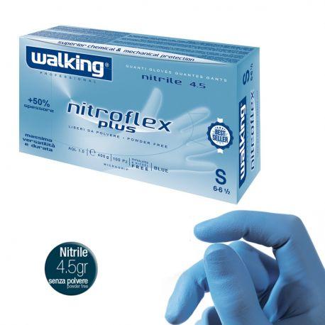 Guanti in Nitrile Monouso Walking Nitroflex Plus 4.5