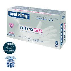 Guanti in Nitrile Monouso Walking Nitrogel Bianco